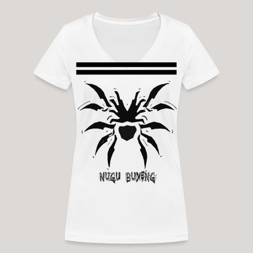 Cissaronid with Stripes 2 Nugu Buyeng - Frauen Bio-T-Shirt mit V-Ausschnitt von Stanley & Stella
