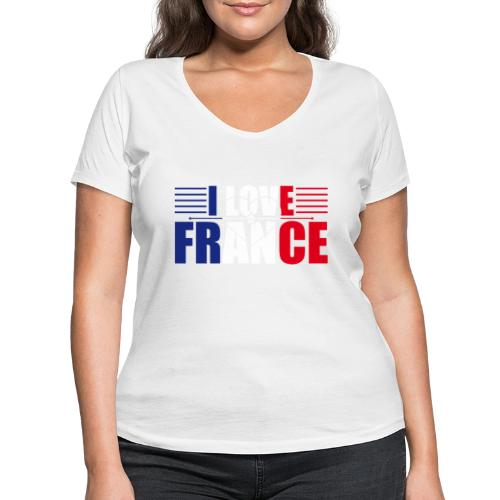 love france - T-shirt bio col V Stanley & Stella Femme