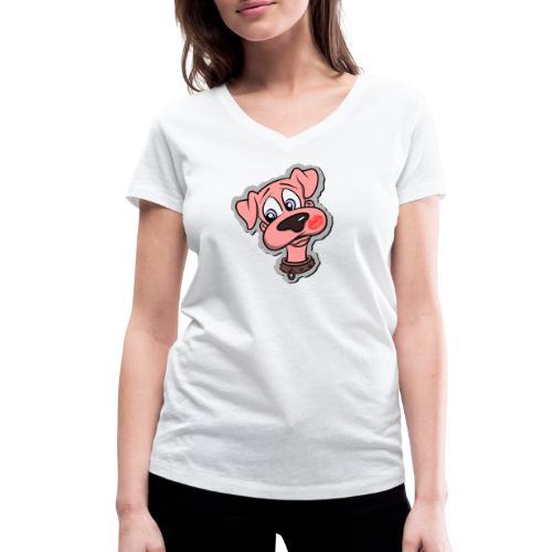Hund zum Kuscheln - Frauen Bio-T-Shirt mit V-Ausschnitt von Stanley & Stella