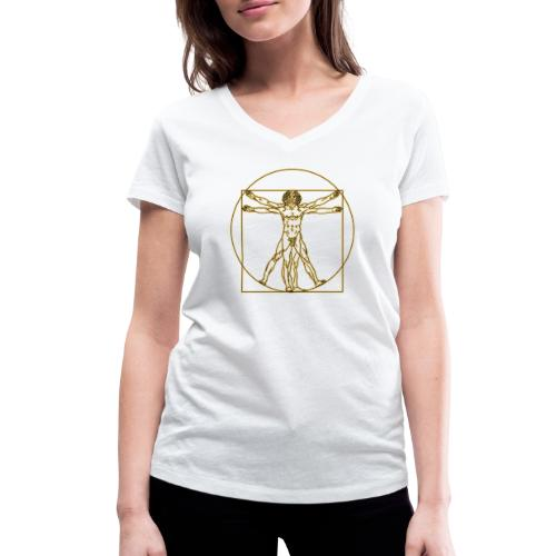 Hombre de Vitruvio. Leonardo Da Vinci - Camiseta ecológica mujer con cuello de pico de Stanley & Stella