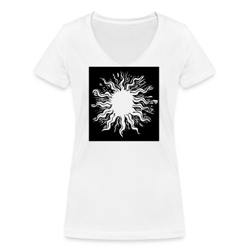 sun1 png - Women's Organic V-Neck T-Shirt by Stanley & Stella