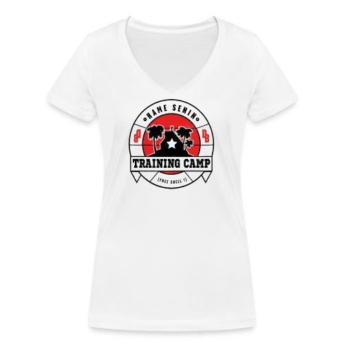 kame senin camp - Women's Organic V-Neck T-Shirt by Stanley & Stella