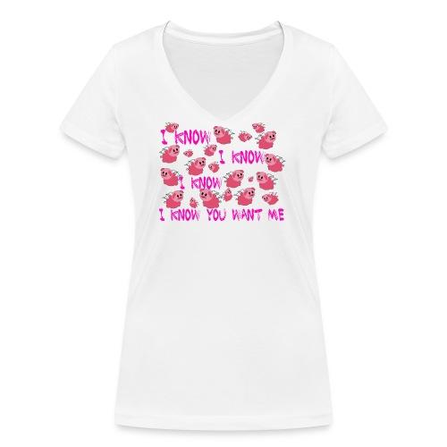 SWINE unisex - Camiseta ecológica mujer con cuello de pico de Stanley & Stella