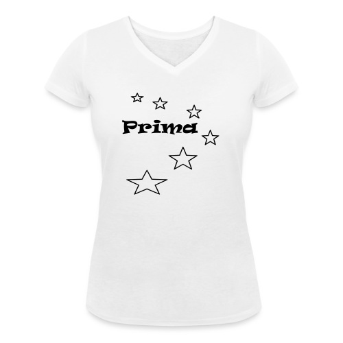Prima - Frauen Bio-T-Shirt mit V-Ausschnitt von Stanley & Stella