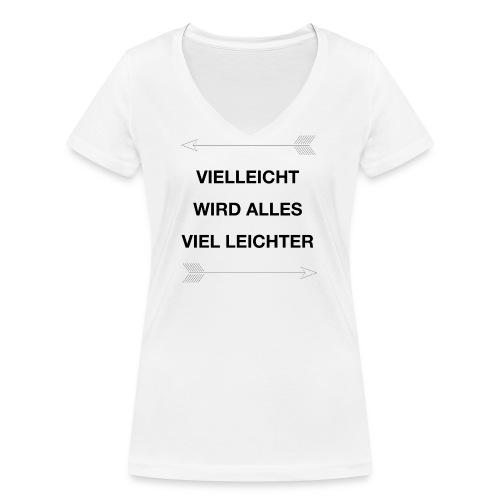 life - Frauen Bio-T-Shirt mit V-Ausschnitt von Stanley & Stella