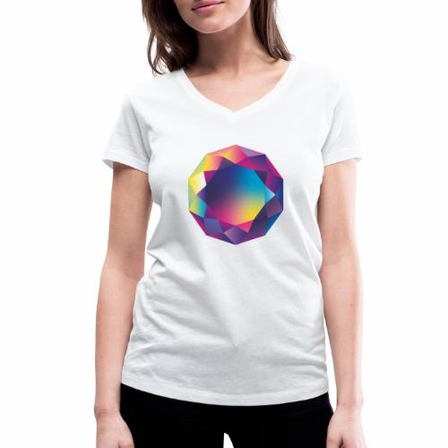 Diamond geometric illustration - Women's Organic V-Neck T-Shirt by Stanley & Stella