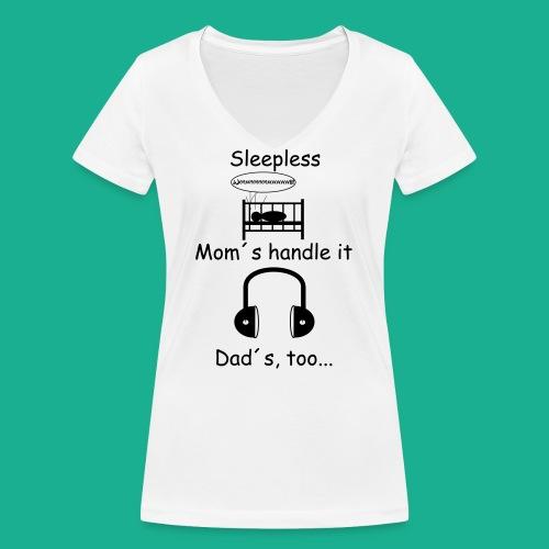 Sleepless - Frauen Bio-T-Shirt mit V-Ausschnitt von Stanley & Stella