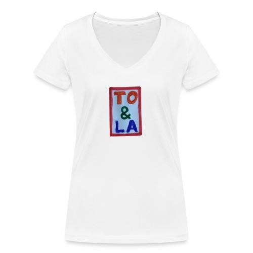 TO & LA - Ekologiczna koszulka damska z dekoltem w serek Stanley & Stella