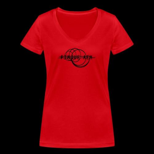 Pinque AEM NERO - T-shirt ecologica da donna con scollo a V di Stanley & Stella