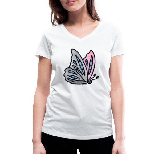 Fjäril - Ekologisk T-shirt med V-ringning dam från Stanley & Stella
