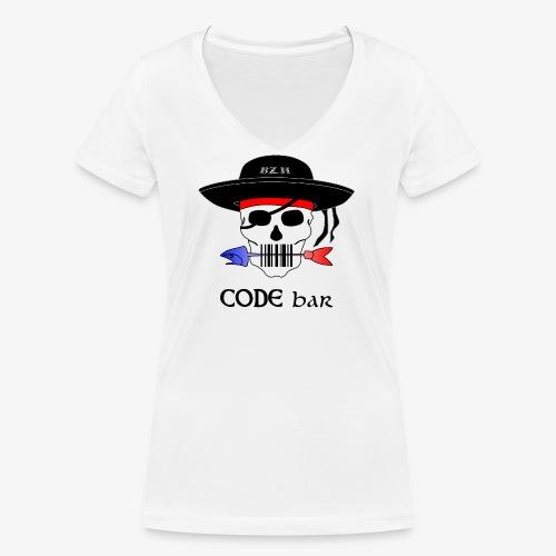 Code Bar couleur - T-shirt bio col V Stanley & Stella Femme