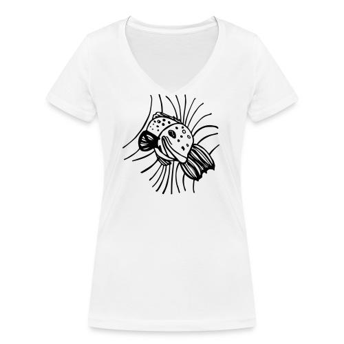 pesce1 - T-shirt ecologica da donna con scollo a V di Stanley & Stella