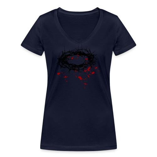 Dornenkrone - Frauen Bio-T-Shirt mit V-Ausschnitt von Stanley & Stella