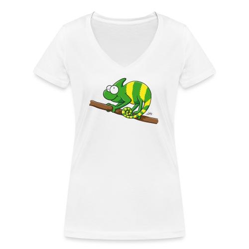 chamaeleon - Frauen Bio-T-Shirt mit V-Ausschnitt von Stanley & Stella