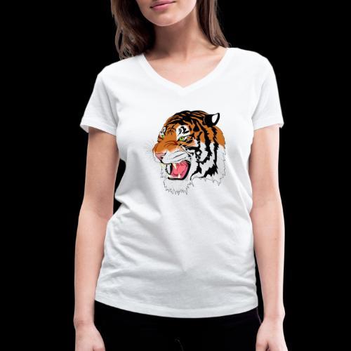Sumatra Tiger - Frauen Bio-T-Shirt mit V-Ausschnitt von Stanley & Stella