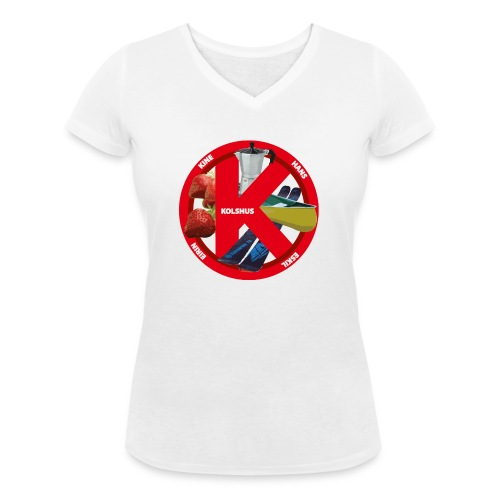 logoforeskil - Women's Organic V-Neck T-Shirt by Stanley & Stella