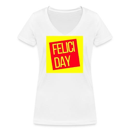 Feliciday - Camiseta ecológica mujer con cuello de pico de Stanley & Stella