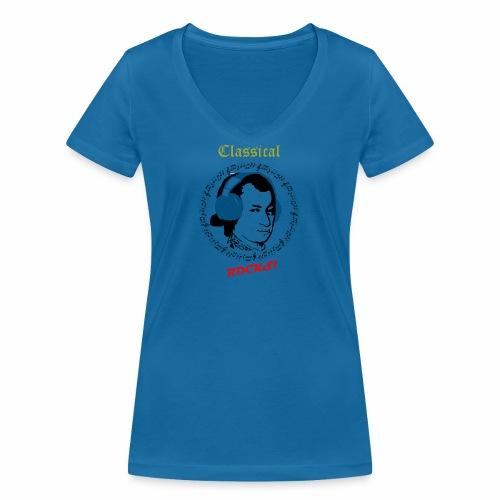 Classical Rocks! - Women's Organic V-Neck T-Shirt by Stanley & Stella