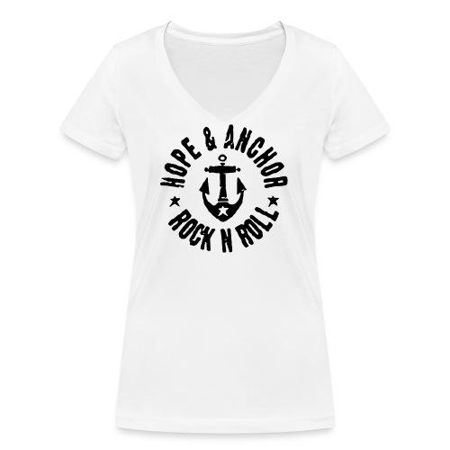 Hope & Anchor - Rock´n´Roll - Frauen Bio-T-Shirt mit V-Ausschnitt von Stanley & Stella
