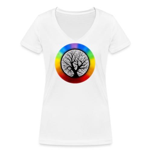 tree of life png - Vrouwen bio T-shirt met V-hals van Stanley & Stella