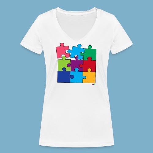 Puzzle Fun Motive - Frauen Bio-T-Shirt mit V-Ausschnitt von Stanley & Stella