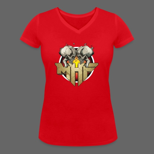 new mhf logo - Women's Organic V-Neck T-Shirt by Stanley & Stella