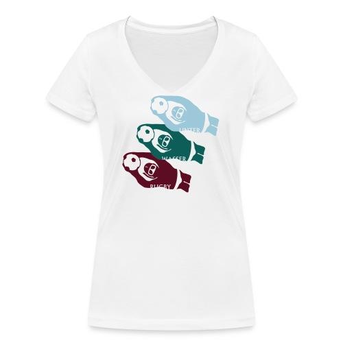 3 UWR-Spieler - Frauen Bio-T-Shirt mit V-Ausschnitt von Stanley & Stella