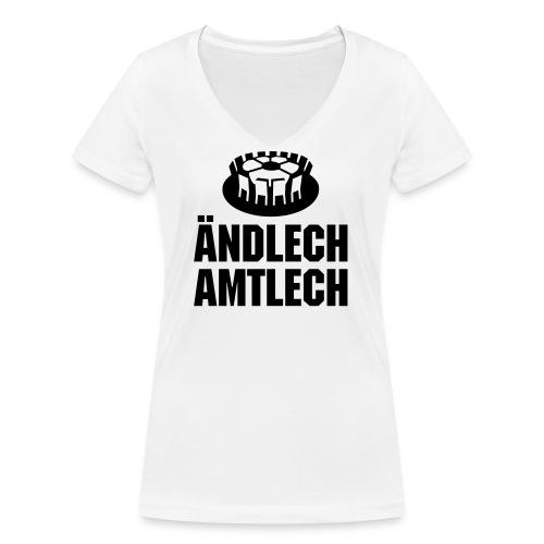 Amtl. bew. Meistershirt - Frauen Bio-T-Shirt mit V-Ausschnitt von Stanley & Stella