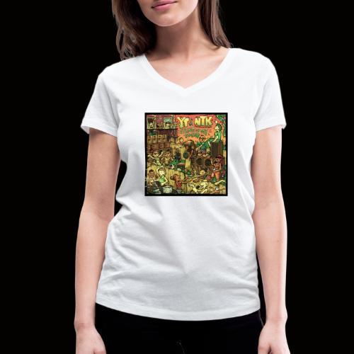 String Up My Sound Artwork - Women's Organic V-Neck T-Shirt by Stanley & Stella