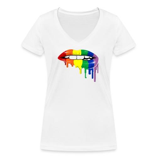 Bicolor lips - T-shirt bio col V Stanley & Stella Femme