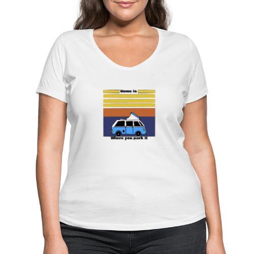 Van Life - T-shirt ecologica da donna con scollo a V di Stanley & Stella