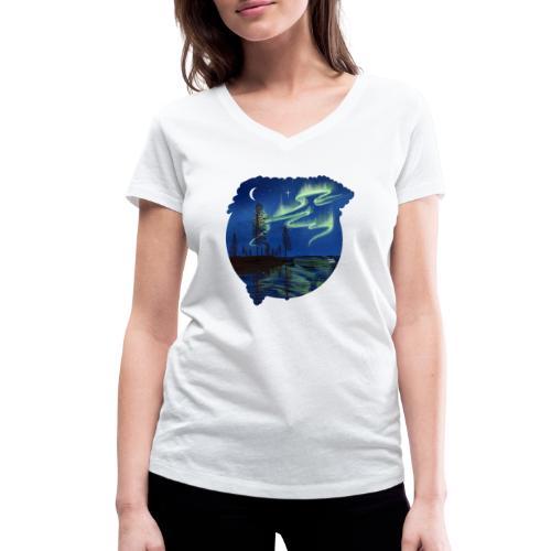 Reflet des aurores boréales - lapland8seasons - T-shirt bio col V Stanley & Stella Femme