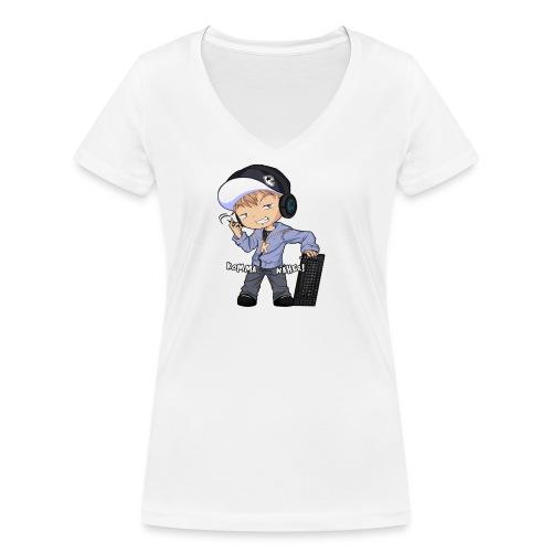 Kapuze Komma Näher mit Text by ShinaiShadow2 png - Frauen Bio-T-Shirt mit V-Ausschnitt von Stanley & Stella
