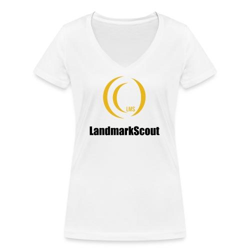 Tshirt White Front logo 2013 png - Women's Organic V-Neck T-Shirt by Stanley & Stella