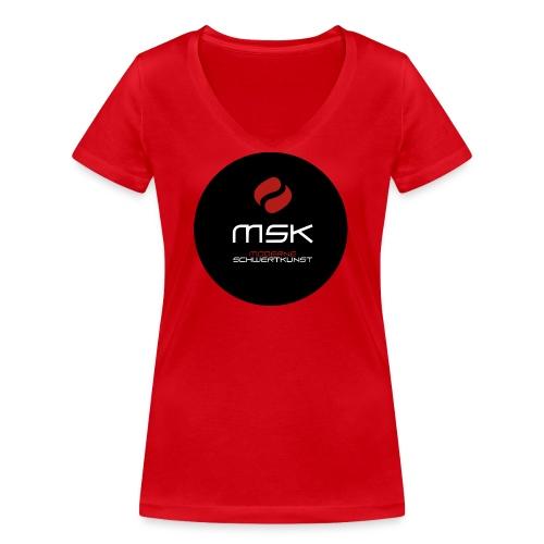 Button - Frauen Bio-T-Shirt mit V-Ausschnitt von Stanley & Stella