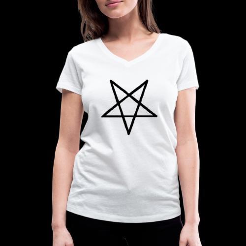 Pentagram2 png - Frauen Bio-T-Shirt mit V-Ausschnitt von Stanley & Stella