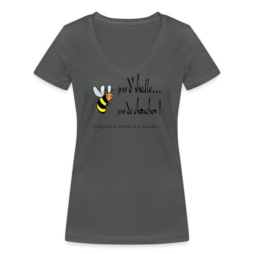Pas d'abeille, pas de chouchen - T-shirt bio col V Stanley & Stella Femme