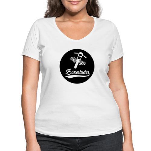 Motorrad Fahrer Shirt Boxerluder - Frauen Bio-T-Shirt mit V-Ausschnitt von Stanley & Stella