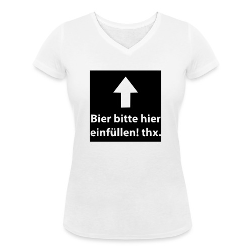 einfüllen1 - Frauen Bio-T-Shirt mit V-Ausschnitt von Stanley & Stella