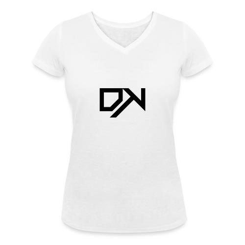 DewKee Logo T-Shirt Black - Women's Organic V-Neck T-Shirt by Stanley & Stella