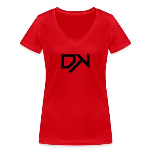 DewKee Logo T-Shirt Black - Women's Organic V-Neck T-Shirt by Stanley & Stella