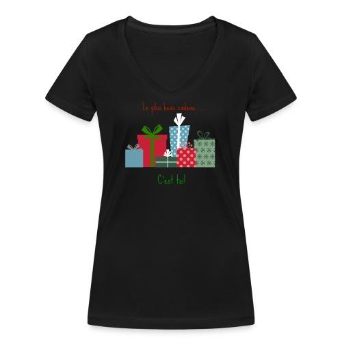 Le plus beau cadeau - T-shirt bio col V Stanley & Stella Femme