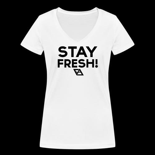 STAY FRESH! T-paita - Stanley & Stellan naisten v-aukkoinen luomu-T-paita