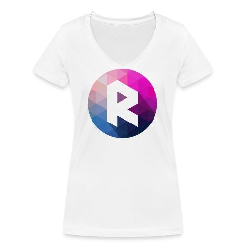 radiant logo - Women's Organic V-Neck T-Shirt by Stanley & Stella