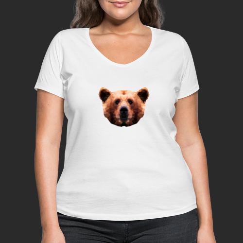 Low-Poly Bear - Frauen Bio-T-Shirt mit V-Ausschnitt von Stanley & Stella