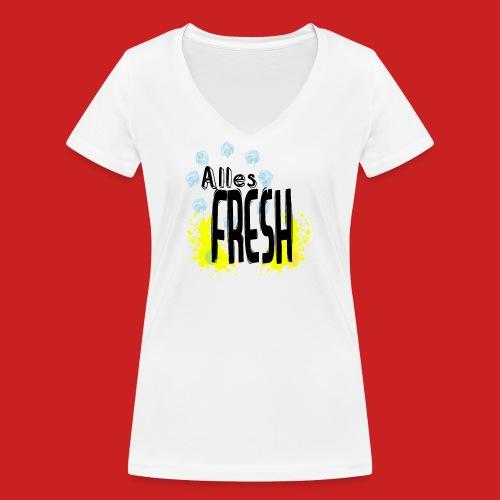 Alles Fresh / Frisch Sommer Eis - Frauen Bio-T-Shirt mit V-Ausschnitt von Stanley & Stella