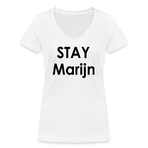 stay marijn black - Vrouwen bio T-shirt met V-hals van Stanley & Stella