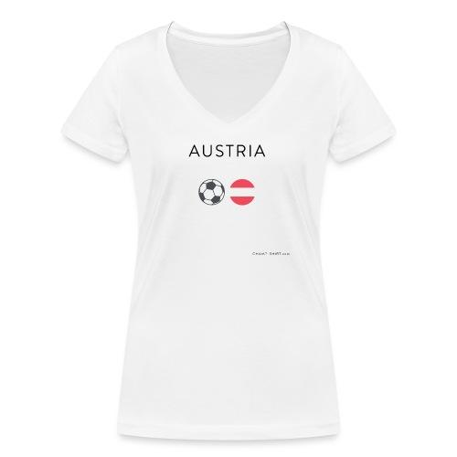 Austria Fußball - Frauen Bio-T-Shirt mit V-Ausschnitt von Stanley & Stella