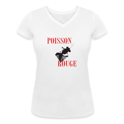 poisson rouge - T-shirt bio col V Stanley & Stella Femme