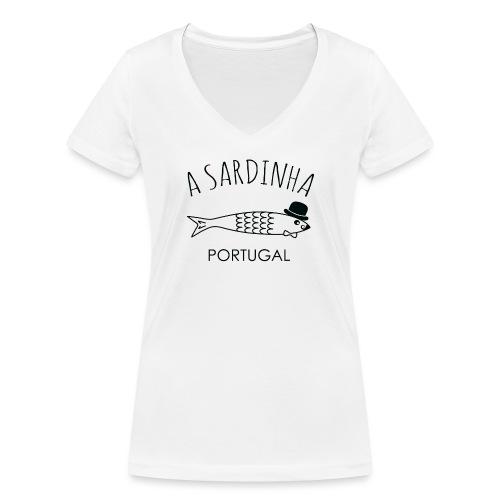 A Sardinha - Portugal - T-shirt bio col V Stanley & Stella Femme